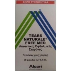 ALCON Tears Naturale Free Med Οφθαλμικές Σταγόνες 30 x 0.4ml