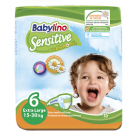 BABYLINO Πάνες Sensitive With Chamomile No 6 (15-30kg) 15τμχ