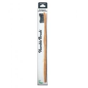 THE HUMBLE CO. Adult Soft Toothbrush Οδοντόβουρτσα απο Μπαμπού με Μαλακή Τρίχα Χρώμα Μαύρο 1τμχ