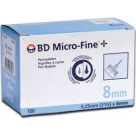 BD Microfine 31G 8mm 100 Βελόνες