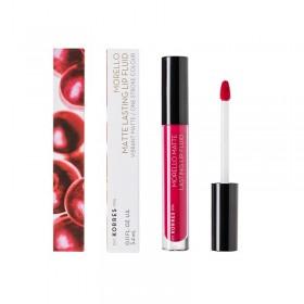 KORRES Morello Matte Lasting Lip Fluid Υγρό Κραγιόν Μεγάλης Διάρκειας για Τέλειο Ματ Αποτέλεσμα Απόχρωση 29 Strawberry Kiss 3.4ml