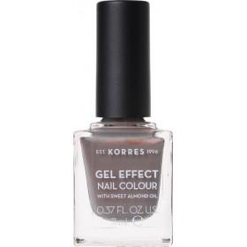 KORRES Gel Effect Nail Colour Ημιμόνιμο Βερνίκι Νυχιών Απόχρωση Νο70 Holographic Ash 11ml
