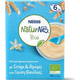 NESTLE NaturNes Bio Βιολογικά Βρεφικά Δημητριακά με Σιτάρι , Βρώμη και Γεύση Βανίλιας απο 6 Μηνών 200g