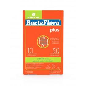 HOLISTIC MED Bacteflora Plus Συμβιωτικό με Προβιοτικά & Πρεβιοτικό με Ενισχυμένη Σύνθεση για την Καθημερινή Συμπλήρωση του Εντερικού Μικροβιώματος 10 Caps
