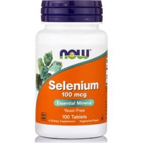 NOW FOODS Selenium 100mcg Yeast Free Vegetarian 100 Tabs