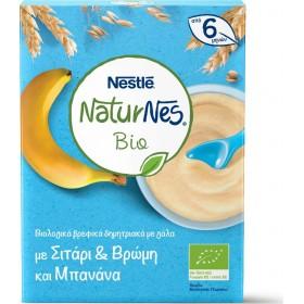 NESTLE NaturNes Bio Βιολογικά Βρεφικά Δημητριακά με Σιτάρι , Βρώμη και Μπανάνα απο 6 Μηνών 200g