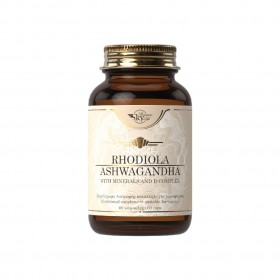 SKY PREMIUM LIFE Rhodiola/Ashwagandha Συμπλήρωμα Διατροφής Εμπλουτισμένο με Σύμπλεγμα Βιταμινών Β , C , Μαγνήσιο και Ψευδάργυρο 60 Κάψουλες