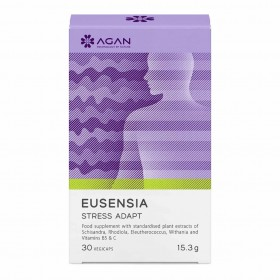 AGAN Eusensia Stress Adapt Συμπλήρωμα Διατροφής για την Αντιμετώπιση του Στρές 30 Veg Caps