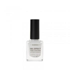 KORRES Gel Effect Nail Colour Ημιμόνιμο Βερνίκι Νυχιών Απόχρωση Νο01 Blanc White 11ml