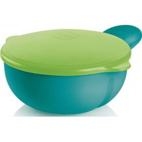 MAM Feeding Bowl Μπώλ με Καπάκι Χρώμα Πράσινο 6m+ 1τμχ
