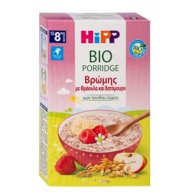 HIPP Bio Βρεφική Κρέμα Βρώμης με Φράουλα και Βατόμουρο Χωρίς Προσθήκη Ζάχαρης 8m+ 250g