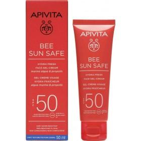 APIVITA Bee Sun Safe Hydra Fresh Face Gel-Cream Αντηλιακή Τζέλ-Κρέμα Προσώπου με Ελαφριά Υφή SPF50 50ml