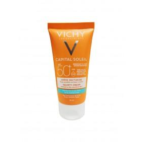 VICHY Capital Soleil Αντηλιακή Κρέμα Προσώπου για Βελούδινη Επιδερμίδα Ιδανική για Κανονικές-Ξηρές & Ευαίσθητες Επιδερμίδες SPF50 50ml