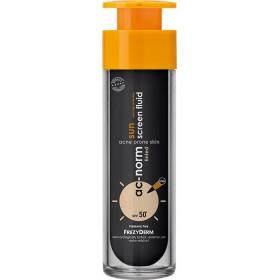 FREZYDERM Ac-Norm Sun Screen Fluid Tinted SPF50+ Αντηλιακή Κρέμα Προσώπου με Ελαφριά Σύνθεση & Χρώμα Ιδανική για το Δέρμα με Ατέλειες 50ml