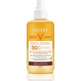 VICHY Ideal Soleil Αντηλιακό Νερό για Λαμπερό Μαύρισμα με Βήτα Καροτίνη SPF30 200ml