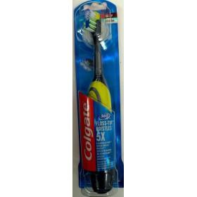 COLGATE 360 Floss-Tip Bristles 5x Ηλεκτρική Οδοντόβουρτσα Medium Χρώμα Κίτρινο 1τμχ