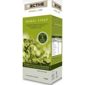 F ECTIVE Herbal Syrup Adults Σιρόπι για την Αντιμετώπιση του Βήχα & του Ερεθισμένου Λαιμού Xωρίς Ζάχαρη 150ml