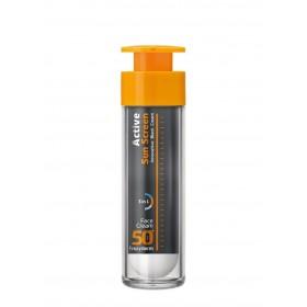 FREZYDERM Active Sun Screen Face Cream Αντηλιακή Κρέμα Προσώπου με Πλούσια Υφή SPF50+ 50ml