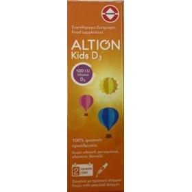 ALTION Kids D3 400IU Συμπλήρωμα Διατροφής με Βιταμίνη D3 για Βρέφη & Παιδιά σε Υγρή Μορφή 20ml