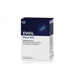 EVIOL Sleep Well Συμπλήρωμα Διατροφής με Μελατονίνη & Βαλεριάνα 30 Μαλακές Κάψουλες