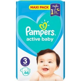 PAMPERS Active Baby Maxi Pack Βρεφικές Πάνες No3 (6-10Kg) 66τμχ