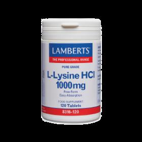 LAMBERTS L-Lysine Λυσίνη 1000mg 120 δισκία