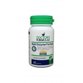 DOCTOR'S FORMULAS Multi Enzyme Formula Συμπλήρωμα Διατροφής Φόρμουλα που Διευκολύνει την Πέψη & Συμβάλλει στη Λειτουργία των Πεπτικών Ενζύμων 60 Κάψουλες