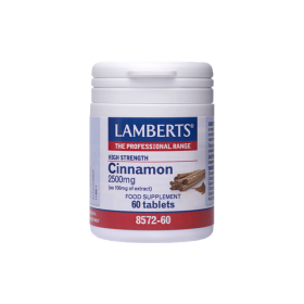 LAMBERTS Cinnamon Κανέλλα 2500mg 60 δισκία