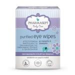 PHARMASEPT Baby Care Purified Eye Wipes Αποστειρωμένα Μαντηλάκια για το Καθαρισμό της Οφθαλμικής Περιοχής & των Βλεφάρων με Χαμομήλι & Γλυκερίνη 10τμχ