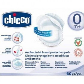 CHICCO Επιθέματα στήθους αντιβακτηριακά 60 τεμαχια