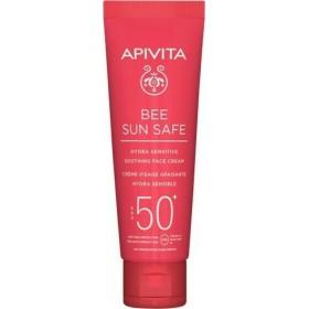 APIVITA Bee Sun Safe Hydra Sensitive Soothing Face Cream Αντηλιακή Καταπραυντική Κρέμα Προσώπου για Ευαίσθητες Επιδερμίδες SPF50+ 50ml
