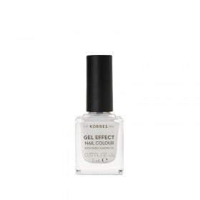 KORRES Gel Effect Nail Colour Ημιμόνιμο Βερνίκι Νυχιών Απόχρωση Νο02 Porcelain White 11ml