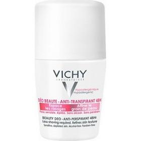 VICHY Deodorant Deo Ideal Finish Αποσμητική Φροντίδα 48h για Ευαίσθητες Αποτριχωμένες Επιδερμίδες με Άρωμα 50ml