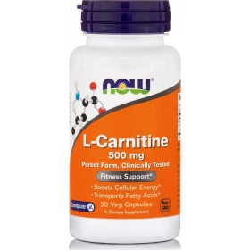 NOW FOODS L-Carnitine 500mg 30 Caps
