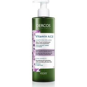 VICHY Dercos Nutrients Vitamin A,C,E Shine Shampoo Σαμπουάν Λάμψης για Θαμπά Μαλλιά 250ml