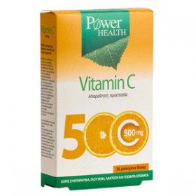 POWER HEALTH Vitamin C 500mg 36 Caps