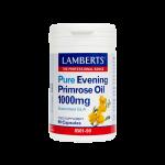 LAMBERTS Pure Evening Primrose Oil 1000mg με Βιταμίνη Ε 90caps