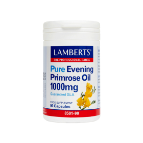 LAMBERTS Pure Evening Primrose Oil 1000mg με Βιταμίνη Ε 90caps