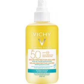 VICHY Capital Soleil Αντηλιακό Νερό Ενυδάτωσης με Υαλουρονικό Οξύ SPF50 200ml