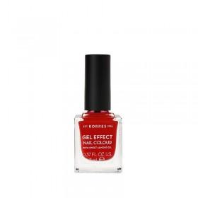 KORRES Gel Effect Nail Colour Ημιμόνιμο Βερνίκι Νυχιών Απόχρωση Νο53 Royal Red 11ml