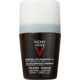 VICHY Homme Deodorant Ανδρικό Αποσμητικό Roll on για 72 ώρες 50ml