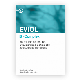 EVIOL B Complex Συμπλήρωμα Διατροφής με Σύμπλεγμα Βιταμινών B 30 Μαλακές Κάψουλες