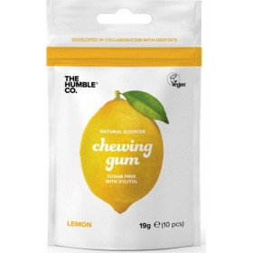 THE HUMBLE CO. Natural Chewing Gum Φυσική Τσίχλα με Γεύση Λεμόνι 19g