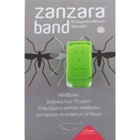 VICAN Zanzara Band Εντομοαπωθητικό Βραχιόλι (S/M) Green 1τμχ