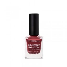 KORRES Gel Effect Nail Colour Ημιμόνιμο Βερνίκι Νυχιών Απόχρωση No77 Vintage Bordeux 11ml