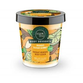 ORGANIC SHOP Body Desserts Mango Sugar Sorbet, Μάνγκο & Ζάχαρη Απολεπιστικό Σώματος Άμεσης Ανανέωσης 450ml