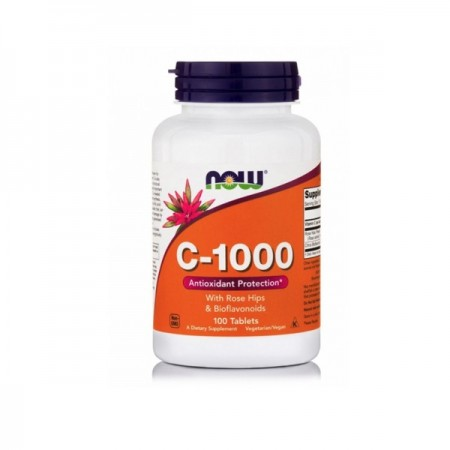 NOW FOODS C-1000 with Rose Hips & Bioflavonoids 100 Tabs