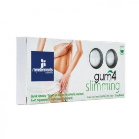 MY ELEMENTS Gum 4 Slimming Τσίχλα για Αύξηση της Αίσθησης Κορεσμού με Γεύση Μέντας Χωρίς Ζάχαρη 10τμχ