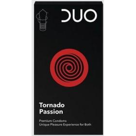 DUO Tornado Passion Προφυλακτικά σε Σχήμα Ανεμοστροβίλου 6τμχ