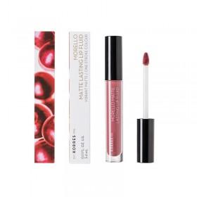 KORRES Morello Matte Lasting Lip Fluid Υγρό Κραγιόν Μεγάλης Διάρκειας για Τέλειο Ματ Αποτέλεσμα Απόχρωση 10 Damask Rose 3.4ml